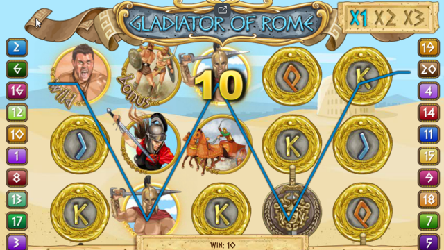 Характеристики слота Gladiators Of Rome 7