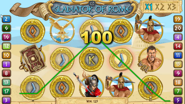 Характеристики слота Gladiators Of Rome 9